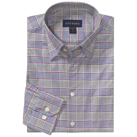 Scott Barber Houndstooth Sport Shirt - Twill, Long Sleeve (For Men)