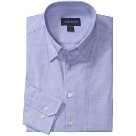 Scott Barber Solid 4x4 Twill Sport Shirt - Long Sleeve (For Men)