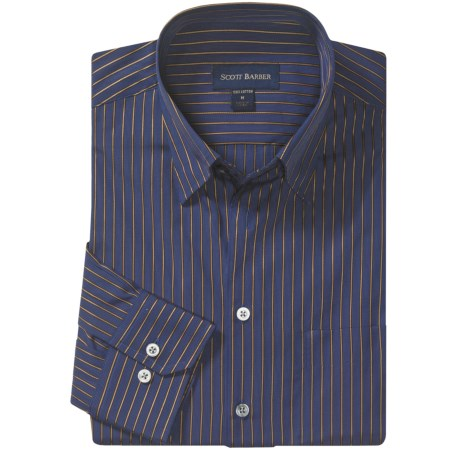 Scott Barber Andrew Fancy Stripe Sport Shirt - Long Sleeve (For Men)