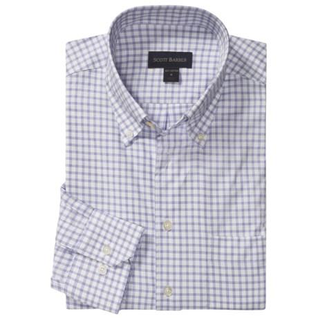 Scott Barber James Dobby Check Sport Shirt - Cotton, Long Sleeve (For Men)