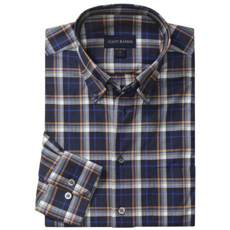 Scott Barber James Sport Shirt - Herringbone Plaid, Long Sleeve (For Men)
