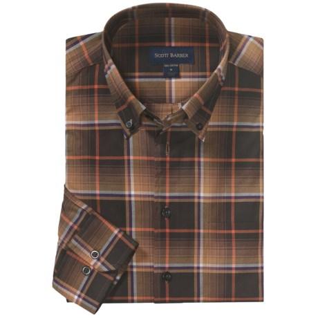 Scott Barber James Plaid Sport Shirt - Long Sleeve (For Men)
