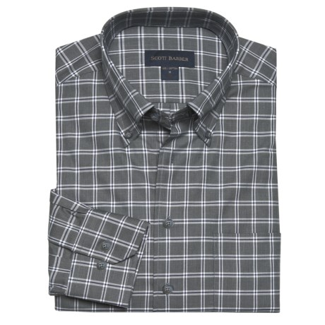Scott Barber James Fancy Check Sport Shirt - Long Sleeve (For Men)