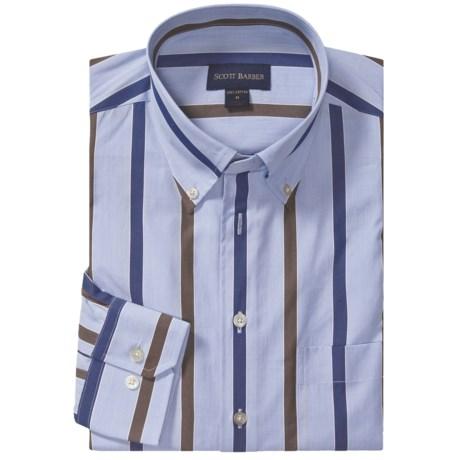 Scott Barber James Sport Shirt - Fancy Stripe, Long Sleeve (For Men)