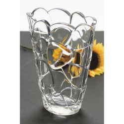 "Nachtmann Petals Vase - 8-1/2"", Lead-Free Crystal"