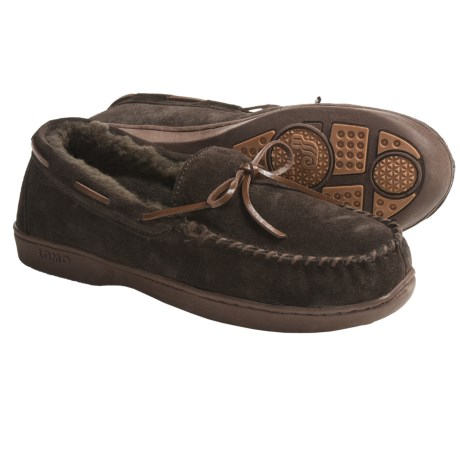 Lamo Mockaroo Slippers - Suede, Sheepskin Lining (For Men)