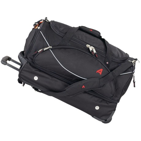 """Athalon Fusion Rolling Duffel Bag with Detachable Carry-On - 22"""""""