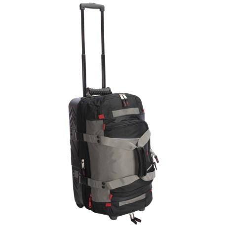 """Athalon Platinum Armored Rolling Duffel - Detachable Top Section, 21"""""""