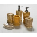 Creative Home Marble Bathroom Accessories - 6-Piece Set