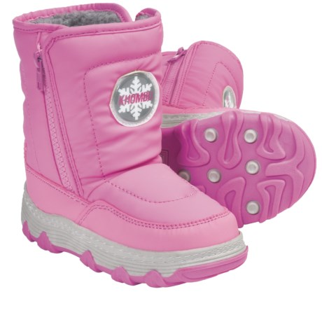Khombu Traveler Zip Winter Boots - Weatherproof, Insulated (For Little Boys and Girls)