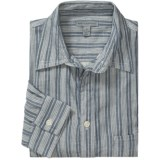 Martin Gordon Cotton Stripe Shirt - Long Sleeve (For Men)