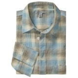 Martin Gordon Crinkle Cotton Plaid Shirt - Long Sleeve (For Men)