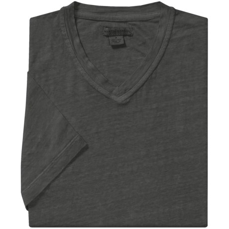Martin Gordon Linen T-Shirt - V-Neck, Short Sleeve (For Men)