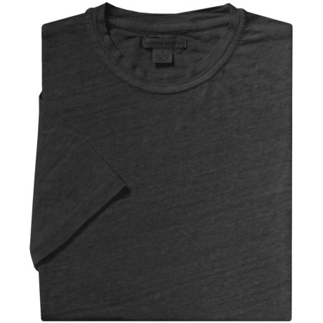 Martin Gordon Linen T-Shirt - Crew Neck, Short Sleeve (For Men)