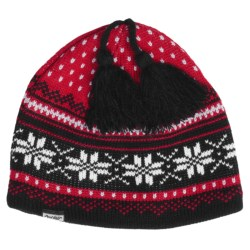 Auclair 8-Point Snowflake Beanie Hat - Fleece-Lined (For Men and Women)