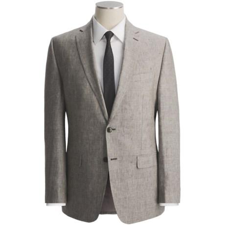 Calvin Klein Glen Plaid Suit - Linen, Slim Fit (For Men)