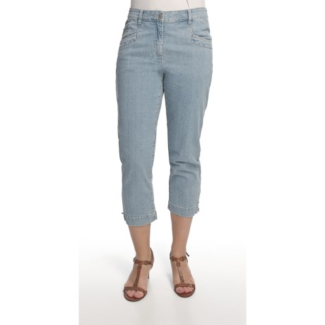 Blue Willi's Zip Cuff Capris - Stretch Cotton (For Women)
