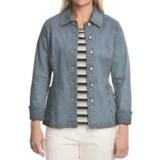 Blue Willi's Blue Willi's Button-Front Denim Jacket - Stretch Cotton (For Women)