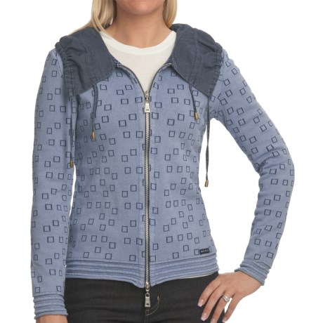 Blue Willi's Cinch Collar Cardigan Sweater (For Women)