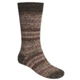 Scott Nichol by Pantherella Fair Isle Norwegian Weave Socks - Wool-Cashmere Blend (For Men)