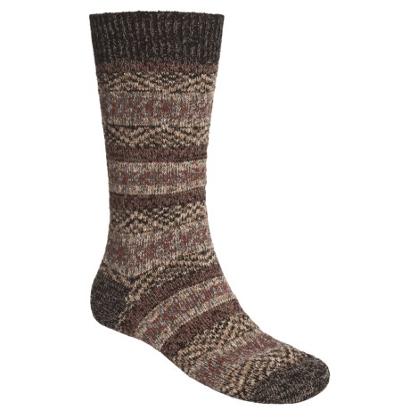 Pantherella Scott Nichol by  Fair Isle Norwegian Weave Socks - Wool-Cashmere Blend (For Men)