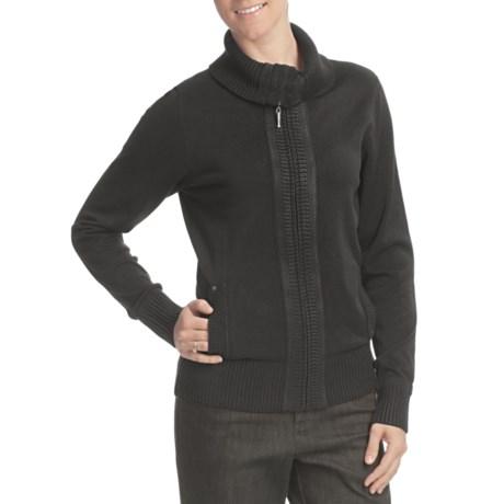 FDJ French Dressing Zip Cardigan Sweater - Rib-Knit Trim, Long Sleeve (For Women)