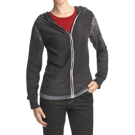 FDJ French Dressing Snow Wash Cotton Cardigan Sweater - Hooded (For Women)