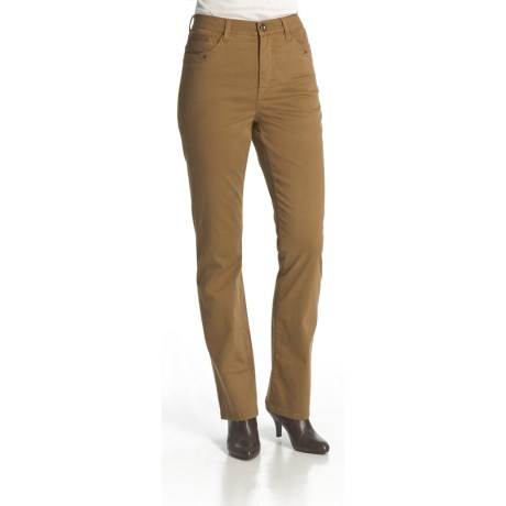 FDJ French Dressing Chamois Solid Suzanne Pants - Straight Leg, Stretch Cotton Blend (For Women)