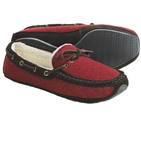 Acorn Ragg Time Moc Slippers - Sherpa Fleece Lining (For Men)