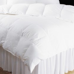 DownTown VILLA Collection Year-Round White Goose Down Comforter - Super Queen, 650+ Fill Power