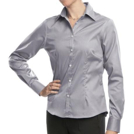 Long Sleeve Dress Shirt - Point Collar (For Women)