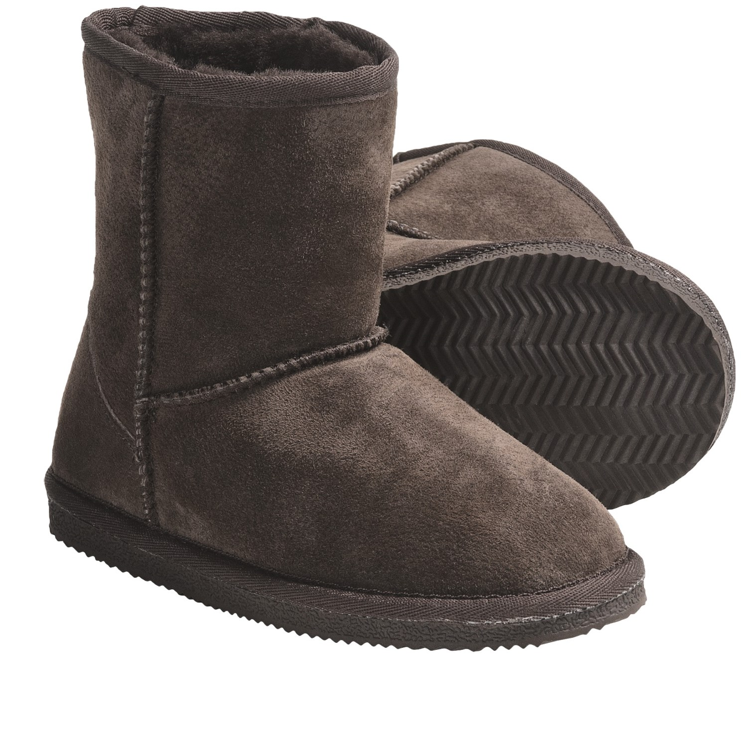 lamo footwear suede sheepskin boots for big 4831k