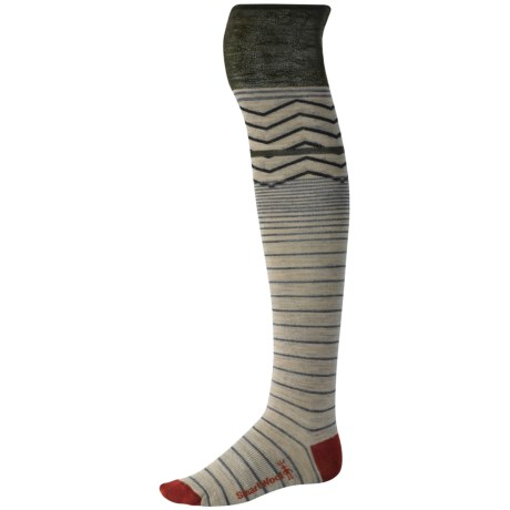 SmartWool Optic Frills Socks - Merino Wool, Over-the-Knee (For Women)