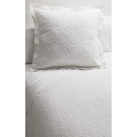 DownTown Company Signature Egyptian Cotton Matelasse Coverlet - Queen
