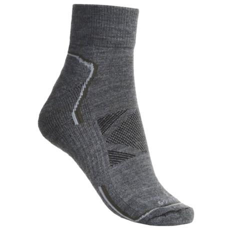 Goodhew Outdoor Tech Socks - Merino Wool, 2-Pack, Quarter-Crew, Medium Cushion (For Men)