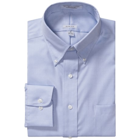 Slim Fit Dress Shirt - Long Sleeve (For Men)