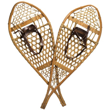 All Resort Furnishings Vintage Canadian Snowshoes - White Ash Wood