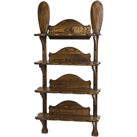 All Resort Furnishings Canoe Paddle Wall Shelf - Ash Wood