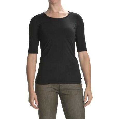 Bogner Annina Satin Trim Jersey Shirt - Elbow Sleeve (For Women)