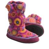 Acorn Roxie Boot Slippers - Fleece (For Girls)