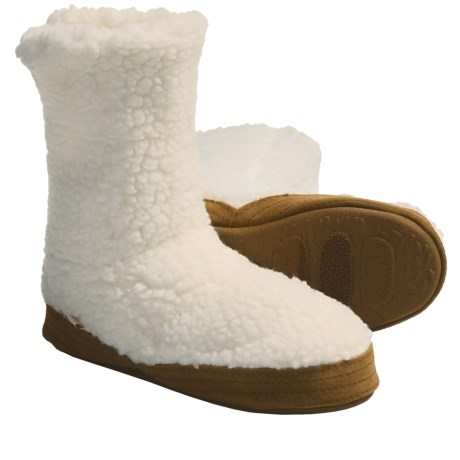 Acorn Tex Bootie Slippers - Microfleece (For Kids)