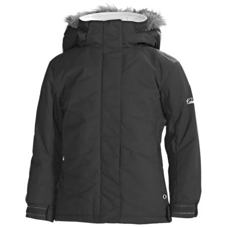 Karbon Amy Ski Jacket - Insulated, Removable Faux-Fur Trim (For Girls)