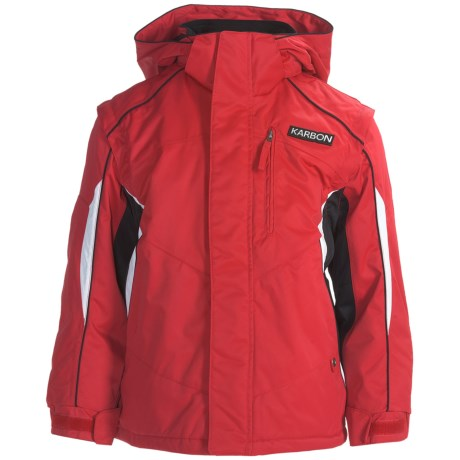 Karbon Rush Ski Jacket - Zip-Off Sleeves, Insulated (For Boys)