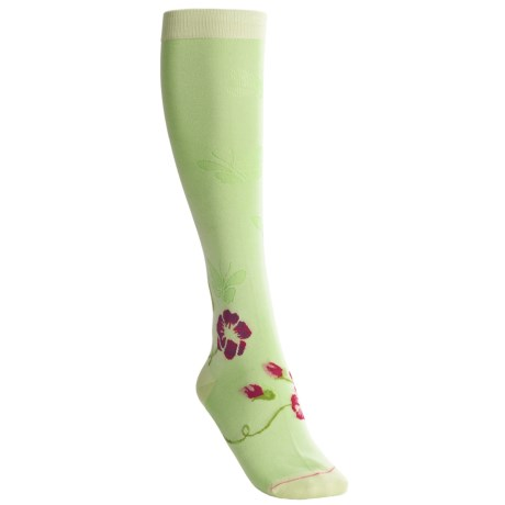 Pantherella Fancy-Cotton Natural-Pattern Socks - Knee-High (For Women)