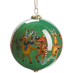 Zhen Zhu Holiday Ornament - Hand-Painted Glass