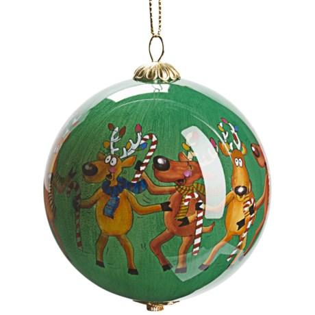 Zhen Zhu Holiday Ornament - Hand-Painted Glass