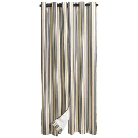 "Thermalogic Weathermate Prelude Stripe Insulated Curtains - 80x84"", Grommet Top"