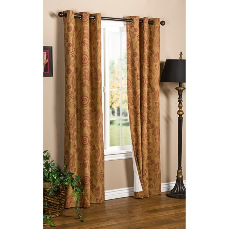 "Thermalogic Weathermate Plymouth Paisley Curtains - 80x84"", Grommet-Top, Insulated"