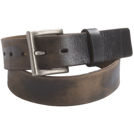 Leather Island by Bill Lavin Distressed Leather Belt - Silver Buckle (For Men)