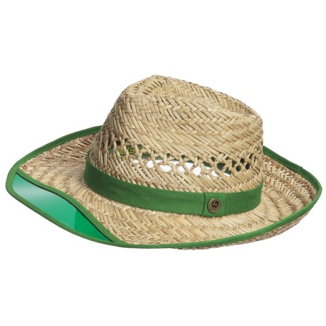 John Deere Sun Visor Hat - Rush Straw, Vented Crown (For Men)